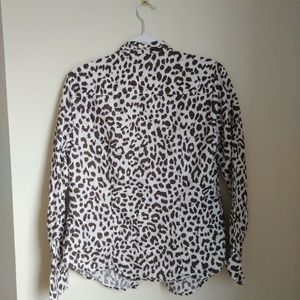 J. Crew Tops - J.Crew Cotton-linen perfect shirt in leopard print